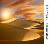 sunset in the desert | Shutterstock . vector #459173176