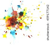 colorful watercolor splashes  ... | Shutterstock . vector #459177142