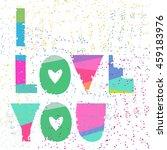 vector cute hipster handwriting ...   Shutterstock .eps vector #459183976
