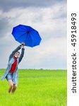 girl with umbrella | Shutterstock . vector #45918493