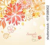 floral design. vector file... | Shutterstock .eps vector #459188002