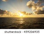 Sunset In The Open Ocean.