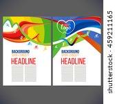vector template design strips... | Shutterstock .eps vector #459211165