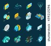 telecommunication isometric...   Shutterstock .eps vector #459215296