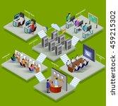 development office isometric... | Shutterstock .eps vector #459215302