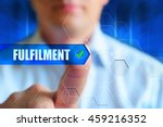 """fulfilment"" button. a man... 