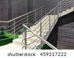 Outdoor Concrete Staircase Wit...