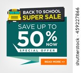 back to school sale sign | Shutterstock .eps vector #459227866