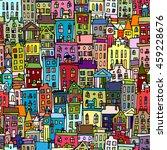 european cityscape  seamless... | Shutterstock .eps vector #459228676