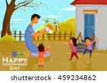 indian people celebrating happy ... | Shutterstock .eps vector #459234862