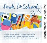 back to school banner. vector... | Shutterstock .eps vector #459236692