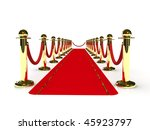 red carpet path on a brown... | Shutterstock . vector #45923797