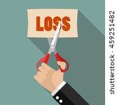 businessman cut loss. business... | Shutterstock .eps vector #459251482