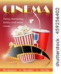 cinema poster design template | Shutterstock .eps vector #459256402