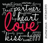 love word cloud on a black... | Shutterstock .eps vector #459264595