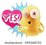 3d rendering. emoticon face...   Shutterstock . vector #459268732