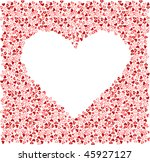 many red heart in the form of... | Shutterstock .eps vector #45927127