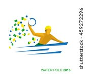 water polo player in the colors ... | Shutterstock .eps vector #459272296