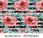 tropical pattern. hand drawn... | Shutterstock . vector #459281842