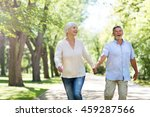 senior couple running  | Shutterstock . vector #459287566