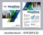blue brochure layout design... | Shutterstock .eps vector #459289132