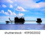 offshore construction platform... | Shutterstock . vector #459302032