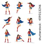 set of female superhero in 9... | Shutterstock .eps vector #459313246