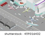 isometric airport  terminal ...   Shutterstock .eps vector #459316432