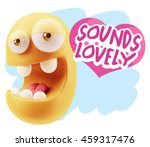 3d rendering. emoticon face... | Shutterstock . vector #459317476