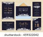 set of wedding suite template... | Shutterstock .eps vector #459322042