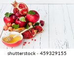 apple and honey  traditional... | Shutterstock . vector #459329155