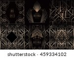 art deco vintage patterns and... | Shutterstock .eps vector #459334102