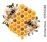 floral honey concept | Shutterstock .eps vector #45934288