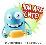 3d rendering. candy gift... | Shutterstock . vector #459345772