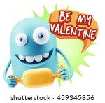 3d rendering. candy gift... | Shutterstock . vector #459345856