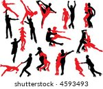 figure skating silhouettes | Shutterstock .eps vector #4593493