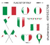 flag of italy vector set | Shutterstock .eps vector #459352708