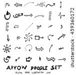 vector hand drawn arrows set | Shutterstock .eps vector #459360172