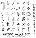 vector hand drawn arrows set | Shutterstock .eps vector #459360178