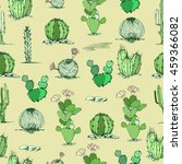 vector cactus hand drawn... | Shutterstock .eps vector #459366082