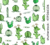 vector cactus hand drawn... | Shutterstock .eps vector #459366106