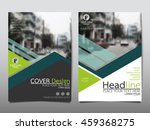 green triangle business annual...   Shutterstock .eps vector #459368275