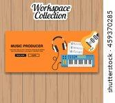 music producer workspace vector   Shutterstock .eps vector #459370285