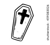 doodle coffin or chest on white ... | Shutterstock .eps vector #459383026