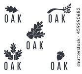 set of logos on an oak tree... | Shutterstock .eps vector #459390682
