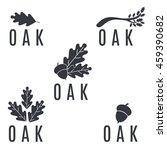 set of logos on an oak tree... | Shutterstock .eps vector #459390682