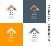 house repair  roofing vector... | Shutterstock .eps vector #459398488