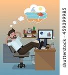 flat  vector illustrate with... | Shutterstock .eps vector #459399985