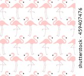 pattern with cute cartoon... | Shutterstock .eps vector #459407476