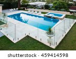 modern swimming pool covered... | Shutterstock . vector #459414598